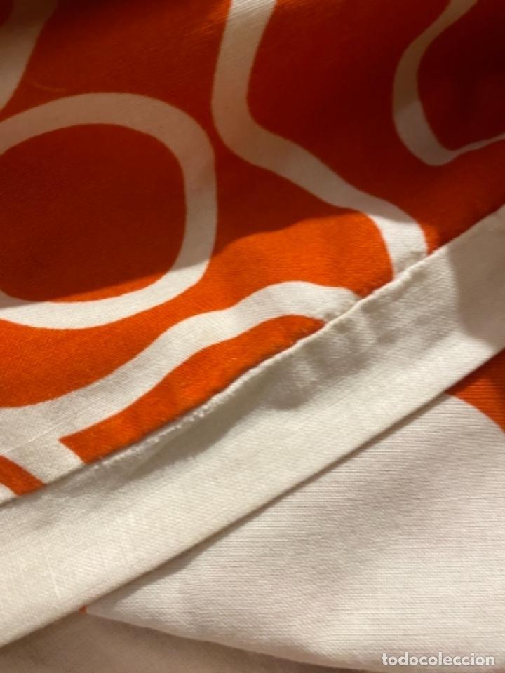 Vintage: Sabanas vintage original funda nordica años 60 doble cara naranja lunares ropa de cama retro hippi - Foto 18 - 285642023
