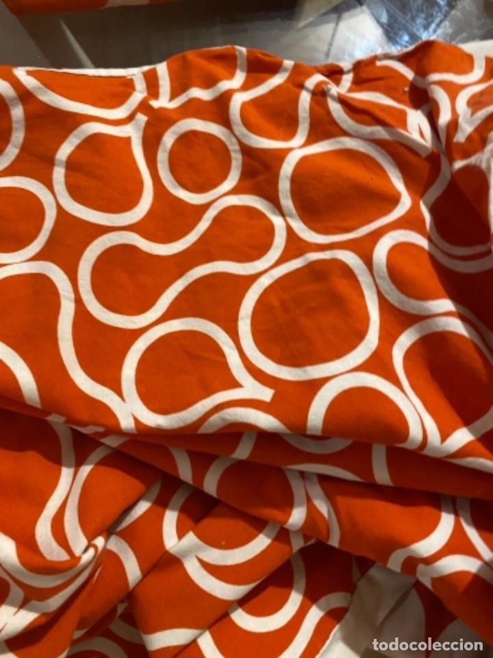Vintage: Sabanas vintage original funda nordica años 60 doble cara naranja lunares ropa de cama retro hippi - Foto 19 - 285642023