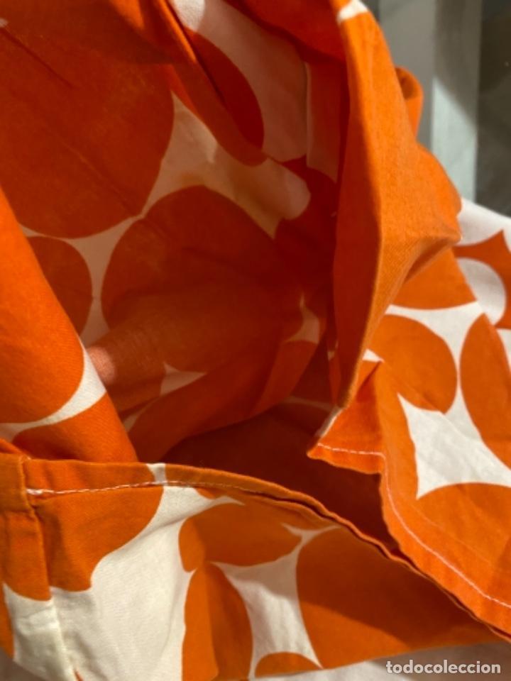 Vintage: Sabanas vintage original funda nordica años 60 doble cara naranja lunares ropa de cama retro hippi - Foto 20 - 285642023