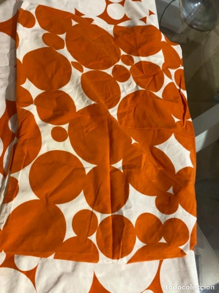 Vintage: Sabanas vintage original funda nordica años 60 doble cara naranja lunares ropa de cama retro hippi - Foto 21 - 285642023