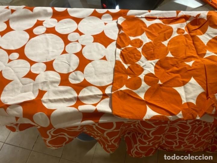 Vintage: Sabanas vintage original funda nordica años 60 doble cara naranja lunares ropa de cama retro hippi - Foto 23 - 285642023