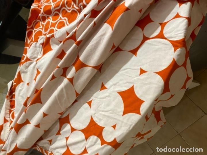 Vintage: Sabanas vintage original funda nordica años 60 doble cara naranja lunares ropa de cama retro hippi - Foto 25 - 285642023