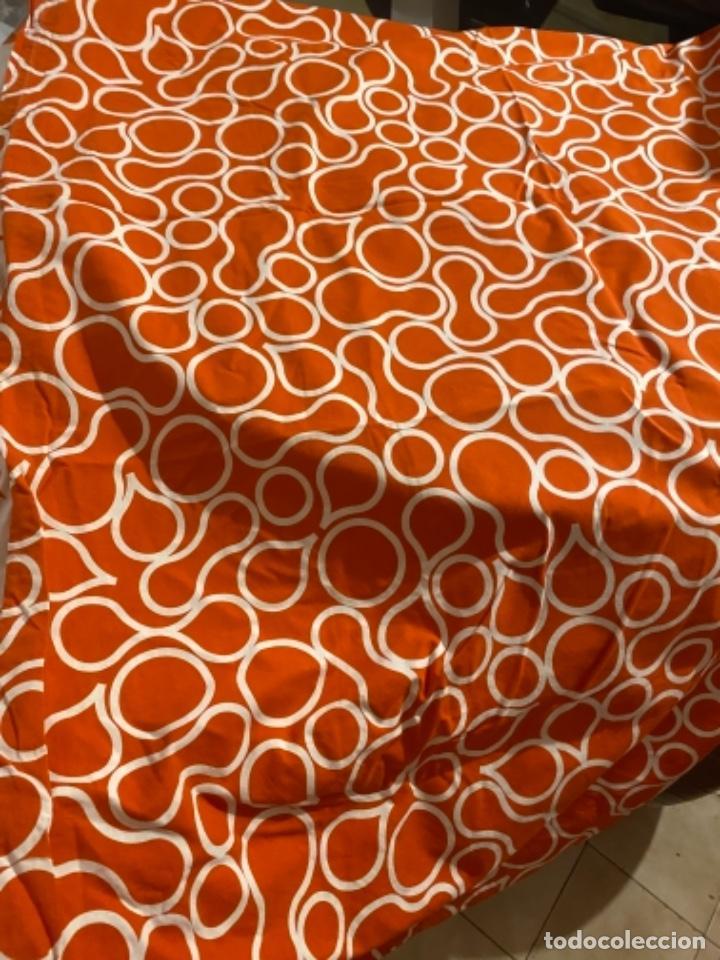 Vintage: Sabanas vintage original funda nordica años 60 doble cara naranja lunares ropa de cama retro hippi - Foto 26 - 285642023