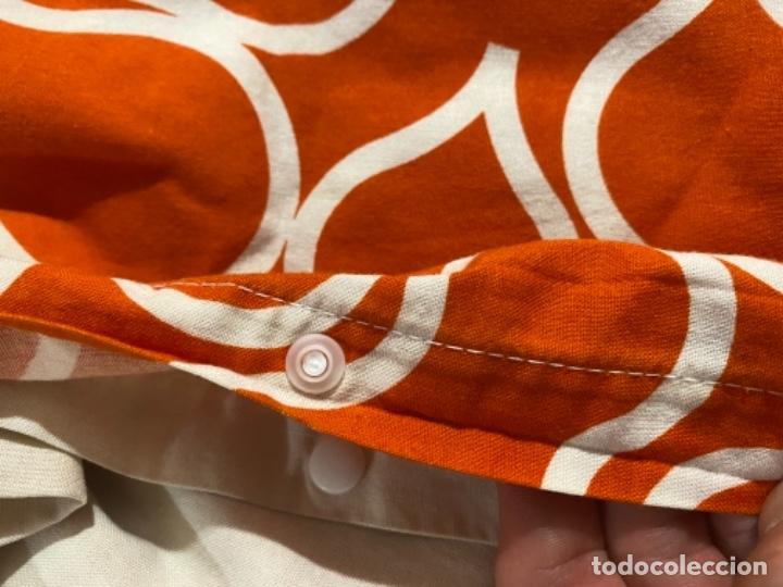 Vintage: Sabanas vintage original funda nordica años 60 doble cara naranja lunares ropa de cama retro hippi - Foto 28 - 285642023