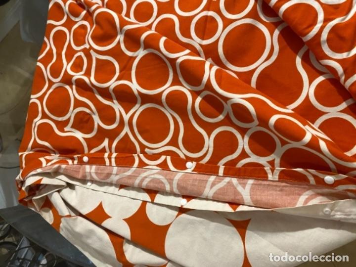 Vintage: Sabanas vintage original funda nordica años 60 doble cara naranja lunares ropa de cama retro hippi - Foto 29 - 285642023