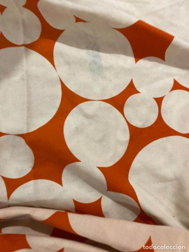Vintage: Sabanas vintage original funda nordica años 60 doble cara naranja lunares ropa de cama retro hippi - Foto 31 - 285642023