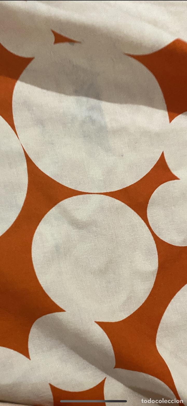 Vintage: Sabanas vintage original funda nordica años 60 doble cara naranja lunares ropa de cama retro hippi - Foto 32 - 285642023