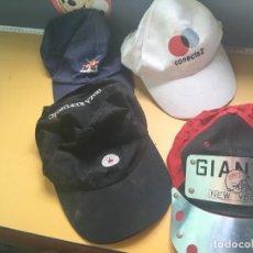 Vintage: CUATRO GORRAS VINTAGE. Lote 285697378