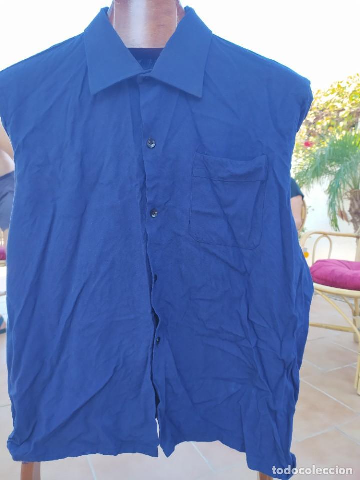 Vintage: camisa Azul falange años 40 -- 50 - Foto 2 - 287838733
