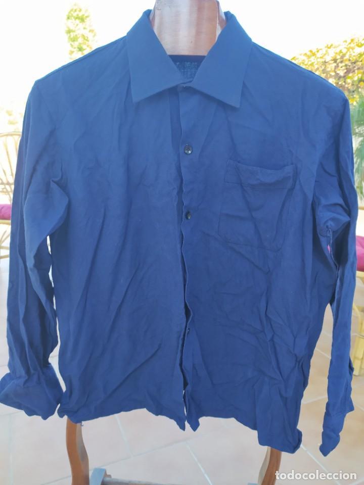 Vintage: camisa Azul falange años 40 -- 50 - Foto 3 - 287838733