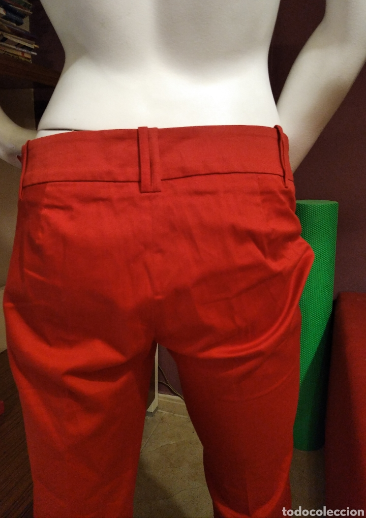 Vintage: Pantalón Zara básic 38 rojo - Foto 4 - 293671458