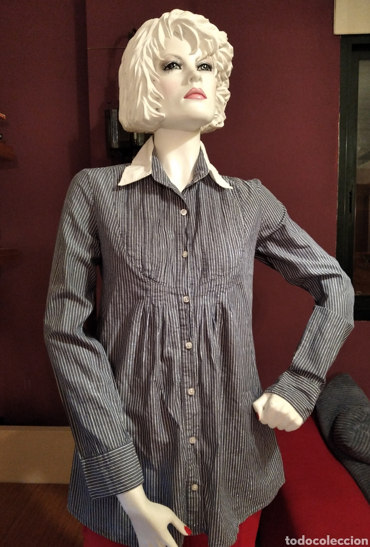CAMISA BERSHKA TALLA M (Vintage - Moda - Mujer)