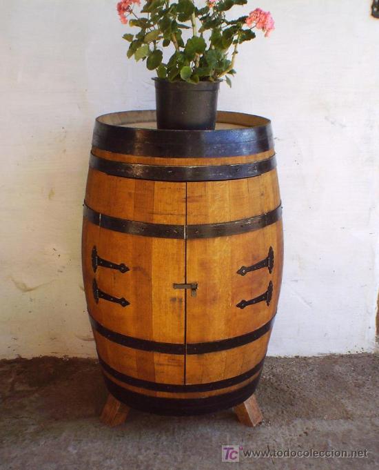 Botellero barrica de vino mueble en madera rob comprar - Botellero de madera para vino ...