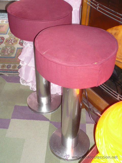 Autenticos taburetes de barra bar 70 vintage comprar - Taburetes segunda mano ...