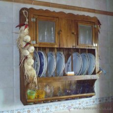 Vintage: PLATERO ARTESANAL EN MADERA MACIZA, MUEBLE ,,, MUE365. Lote 182118682