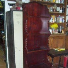Vintage: ESTANTERIA EN TONO CAOBA CON ESTANTERIAS Y CAJONES. AÑOS 70.. Lote 50915898