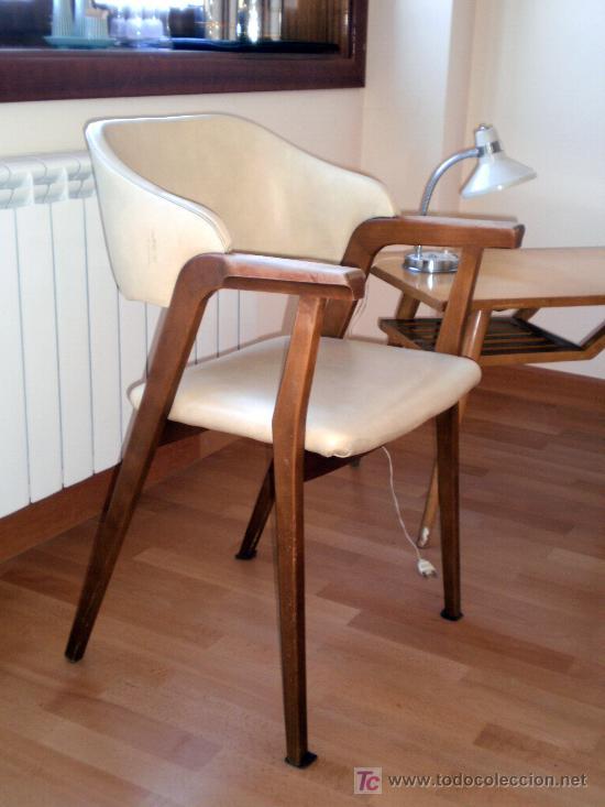 Silla con brazos estilo dan s a os 60 vintage vendido en - Sillas anos 60 ...
