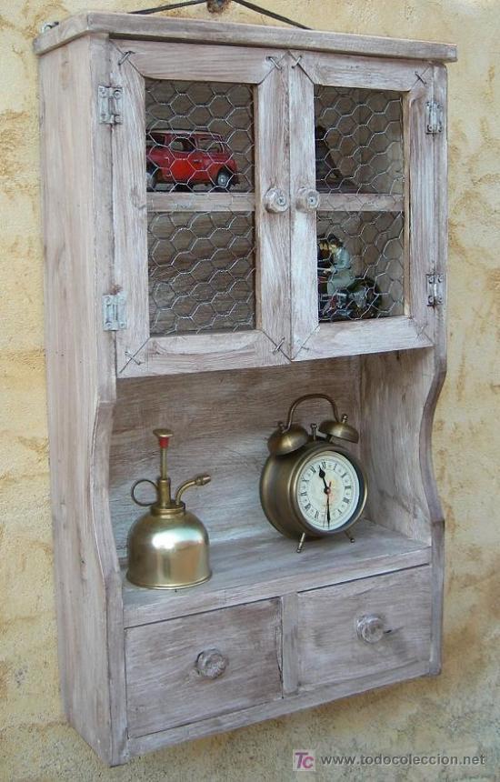Mueble especiero de madera vintage mue365 comprar - Muebles online vintage ...