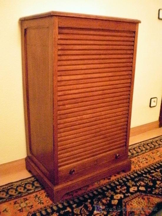 Peque o mueble de oficina archivador de persian comprar for Muebles de oficina vintage