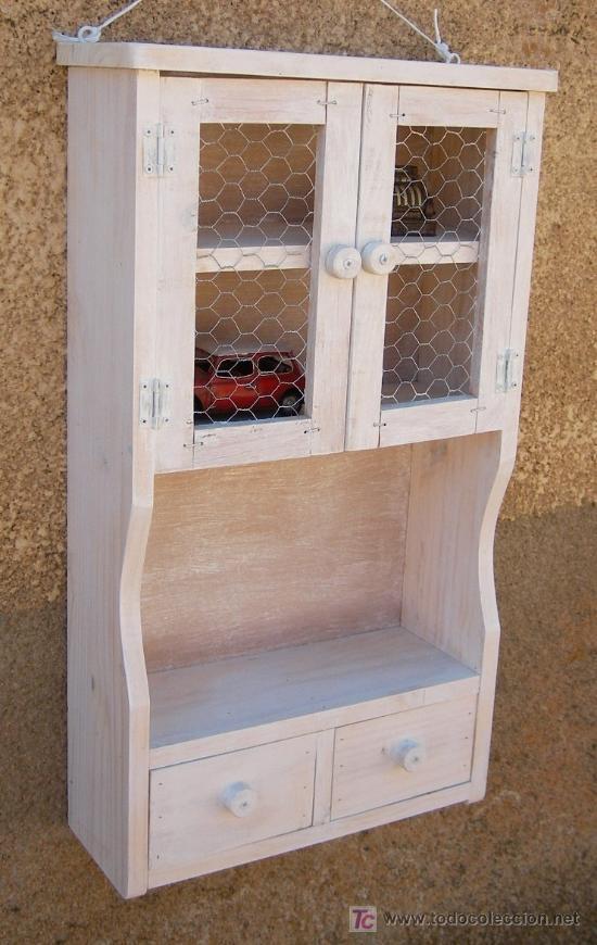 Mueble alacena de madera vintage mue365 comprar - Muebles online vintage ...
