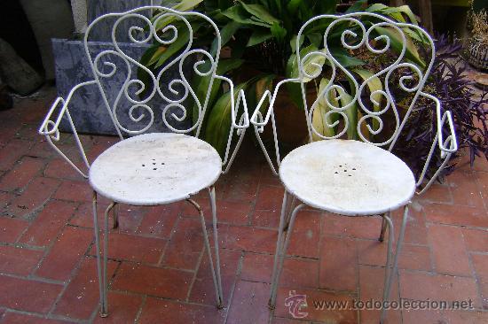 sillas de hierro para jardin. - Comprar Muebles vintage en ... - photo#32