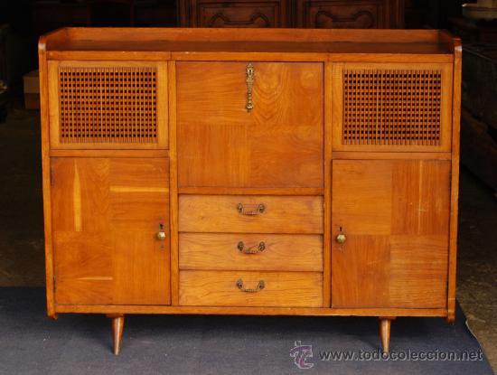 Restaurado mueble bar botellero a os 50 casta comprar muebles vintage en todocoleccion - Mueble anos 50 ...
