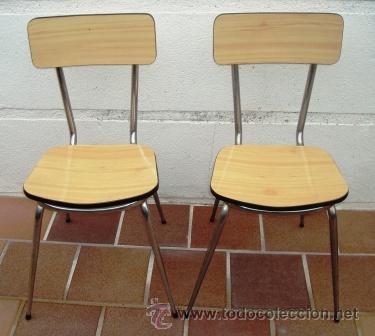 saldo. dos sillas de formica y metal, vintage - Comprar Muebles ...