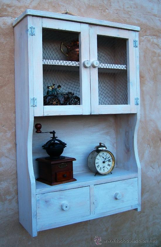 Mueble alacena de madera vintage mue365 comprar for Mueble alacena