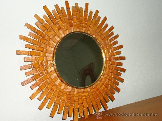 original espejo tipo sol sesentero total vintage muebles