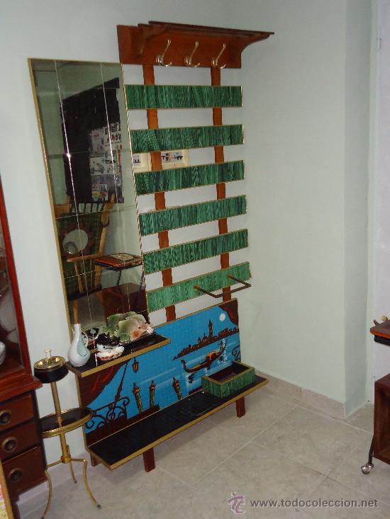 Impresionante mueble de entrada a os 50 itali comprar - Percheros paragueros antiguos ...