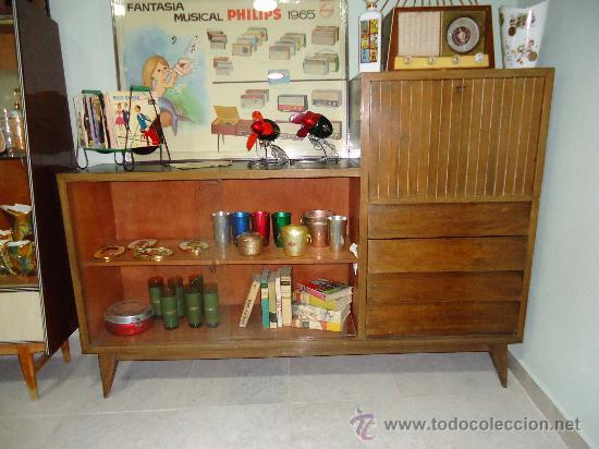 Aparador vitrina dan s a os 60 comprar muebles vintage en todocoleccion 30414718 - Muebles anos 60 ...