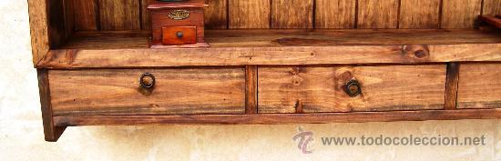 Platero de madera maciza rustico mueble de 135 comprar for Mueble platero