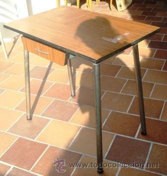 Mesa de cocina de formica vintage comprar muebles vintage en todocoleccion 31121819 - Mesa cocina vintage ...