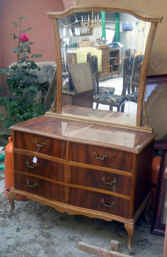 Coqueta tocador a os 60 para restaurar decorar comprar muebles vintage en todocoleccion - Muebles anos 60 ...