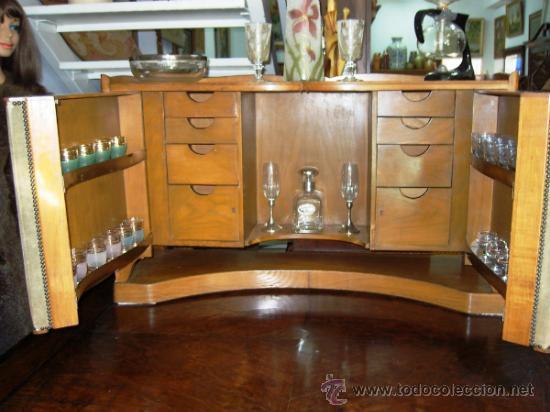 Mueble bar a os 50 en madera de cerezo y robl comprar muebles vintage en todocoleccion - Mueble anos 50 ...
