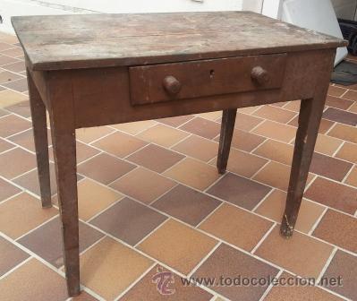 Mesa tocinera de cocina de madera a os 40 50 comprar for Muebles de cocina anos 80
