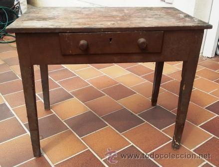 Mesa tocinera de cocina de madera a os 40 50 comprar - Cocinas retro anos 50 ...