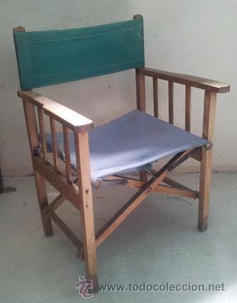 Silla de director de madera para restaurar comprar muebles vintage en todocoleccion 32707568 - Restaurar sillas de madera ...