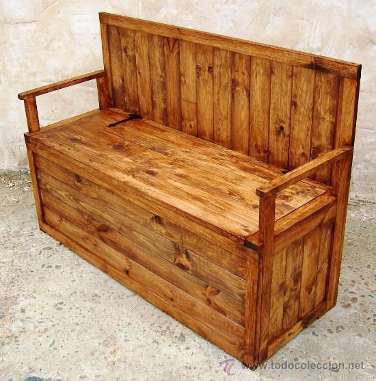 Banco arcon de madera 150 cm mueble mue36 comprar for Banco arcon madera