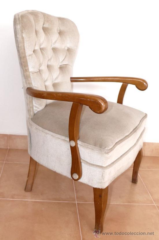 Silla sillon vintage antigua dormitorio descalz comprar for Dormitorio anos 60