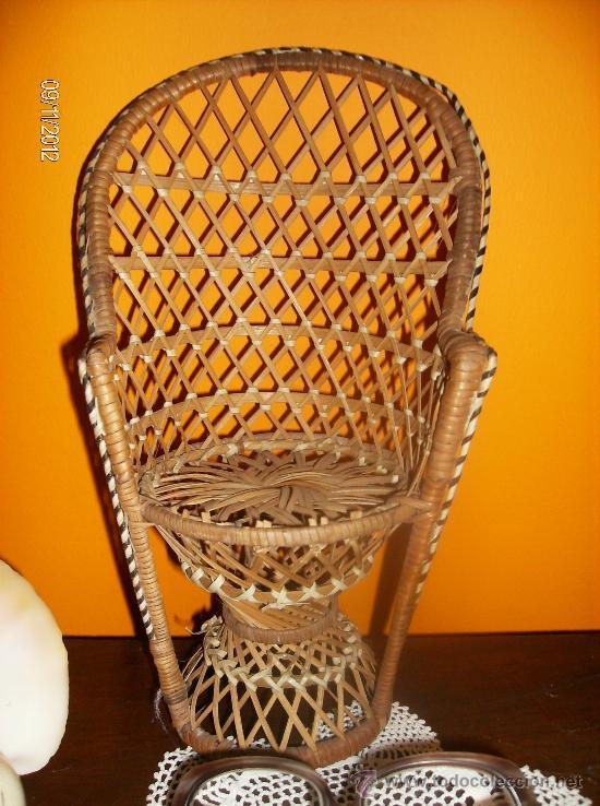 mini silla en mimbre para muñeca - Comprar Muebles vintage en ...