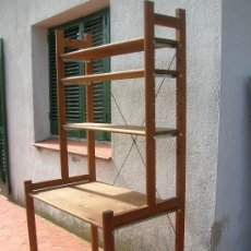 Vintage: ESCRITORIO CON ESTANTERIAS EN MADERA DE PINO -AÑOS 80. Lote 74527189