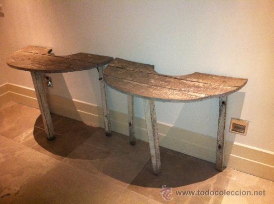 Dos consolas en madera de roble acabado decape comprar - Consolas que se convierten en mesas de comedor ...