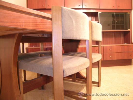 Mesa comedor extensible y 4 sillas tapizadas en comprar for Oferta mesa comedor extensible y sillas