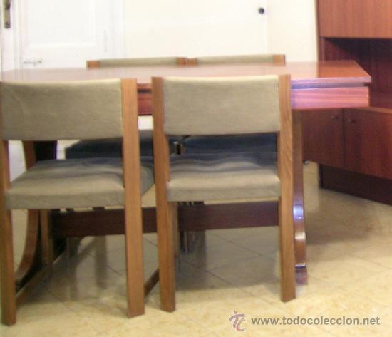 Mesa comedor extensible y 4 sillas tapizadas en comprar for Mesa comedor estilo nordico