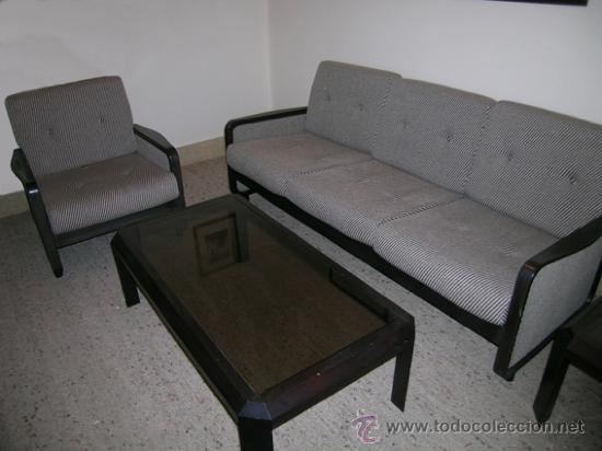 Sof 3 plazas y 1 sill n madera palisandro y t comprar for Palisandro muebles