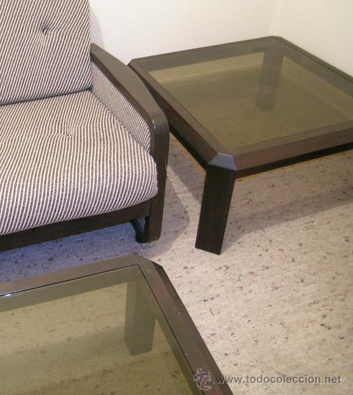 2 mesas de centro estructura madera palisandro comprar for Palisandro muebles