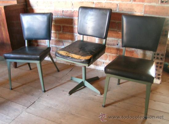 3 sillas oficina años 50. estructura y patas hi - Comprar Muebles ...