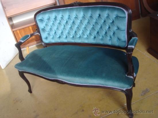 Banco tapizado a os 60 comprar muebles vintage en todocoleccion 34490305 - Banco tapizado ...