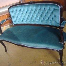 Vintage: BANCO TAPIZADO AÑOS 60. Lote 34490305